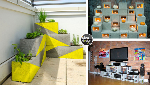 Decorare con blocchi di cemento 17 idee creative per la casa - Idee per abbellire la casa ...