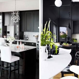 idea cucina bianca e nera