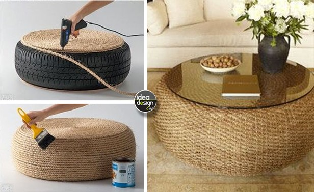 riciclo creativo pneumatici