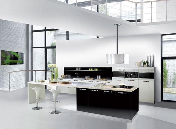 idea design cucina bianca e nero le foto. Black Bedroom Furniture Sets. Home Design Ideas