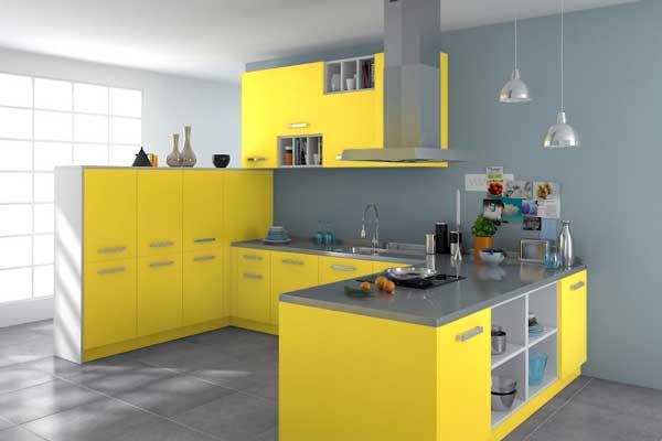 cucina gialla idee design moderno : Arredare con il giallo: Un colpo di sole dentro casa!