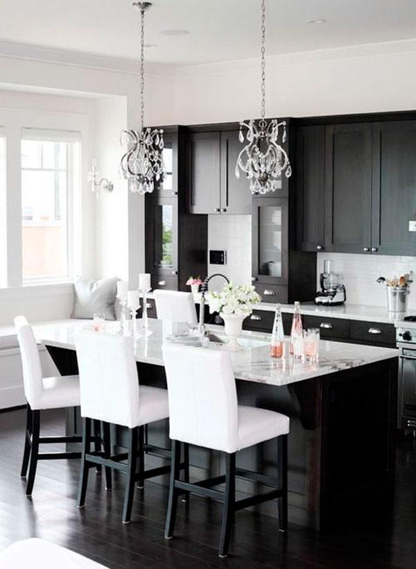 idea cucina bianca e nero