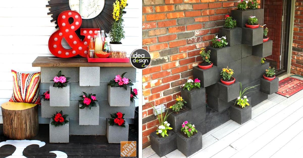 Piante Da Arredo Interno : Decorare con blocchi di cemento idee creative per la casa