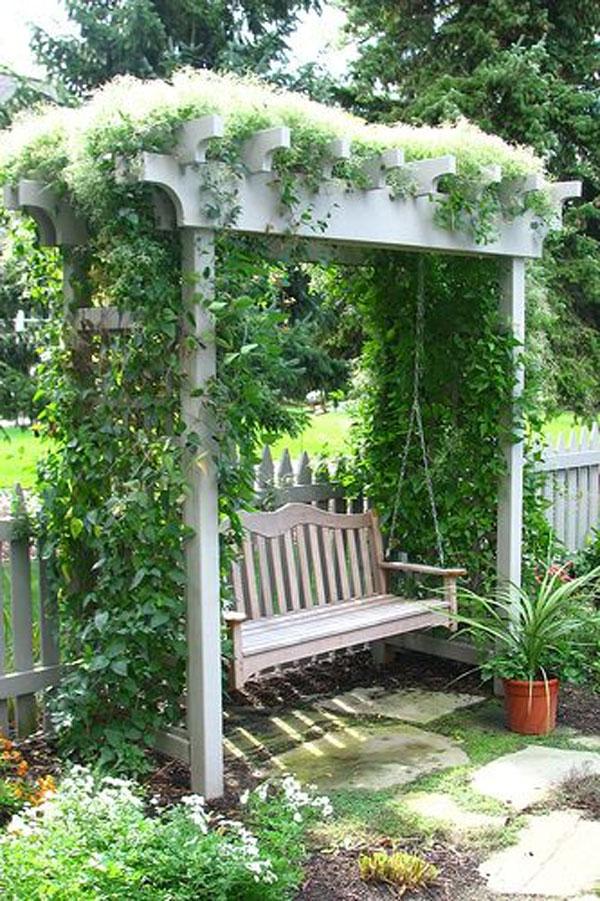 disegno Casa Giardino : Dondolo Da Giardino Con Un Disegno Fatto Da Legno Arredamento E ...