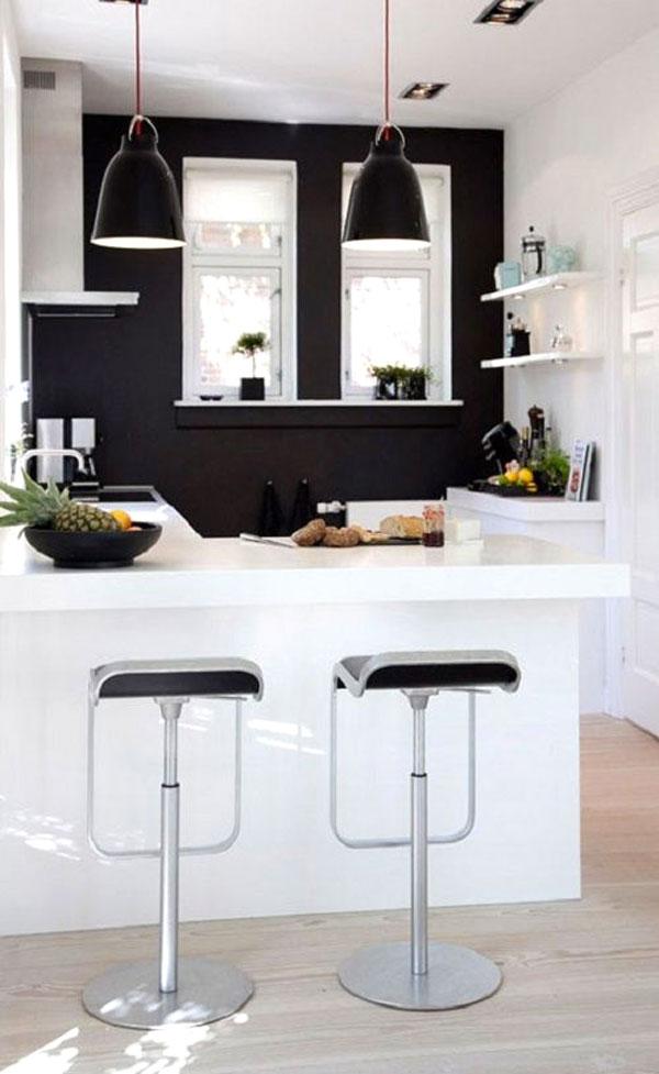 Parete Colorata Cucina. Great Pareti Colorate Blu In Casa With ...