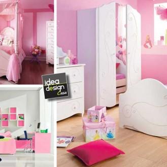 Idee dipingere cameretta bimba design casa creativa e for Cameretta rosa