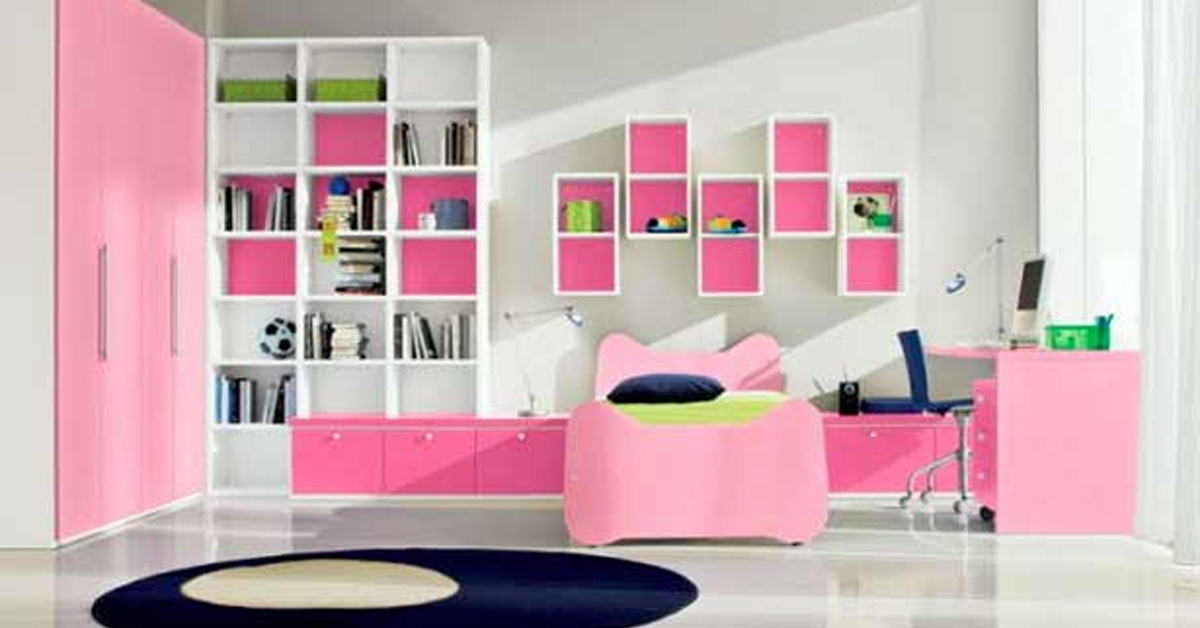 Girl\'s bedroom ideas: decorate a pretty pink bedroom