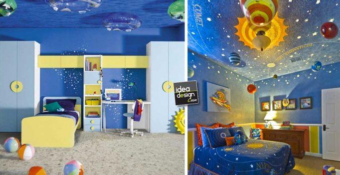 Decorazione soffitto camera da bambino 27 idee - Camera da letto bambino ...