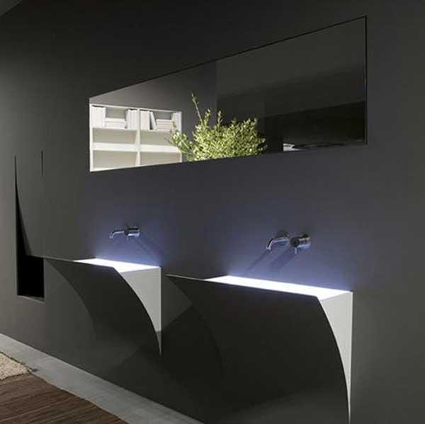 illuminare il bagno con led