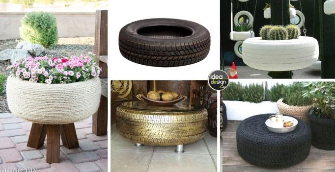 Riciclare pneumatici 28 idee per un riciclo creativo for Riciclo creativo per la casa