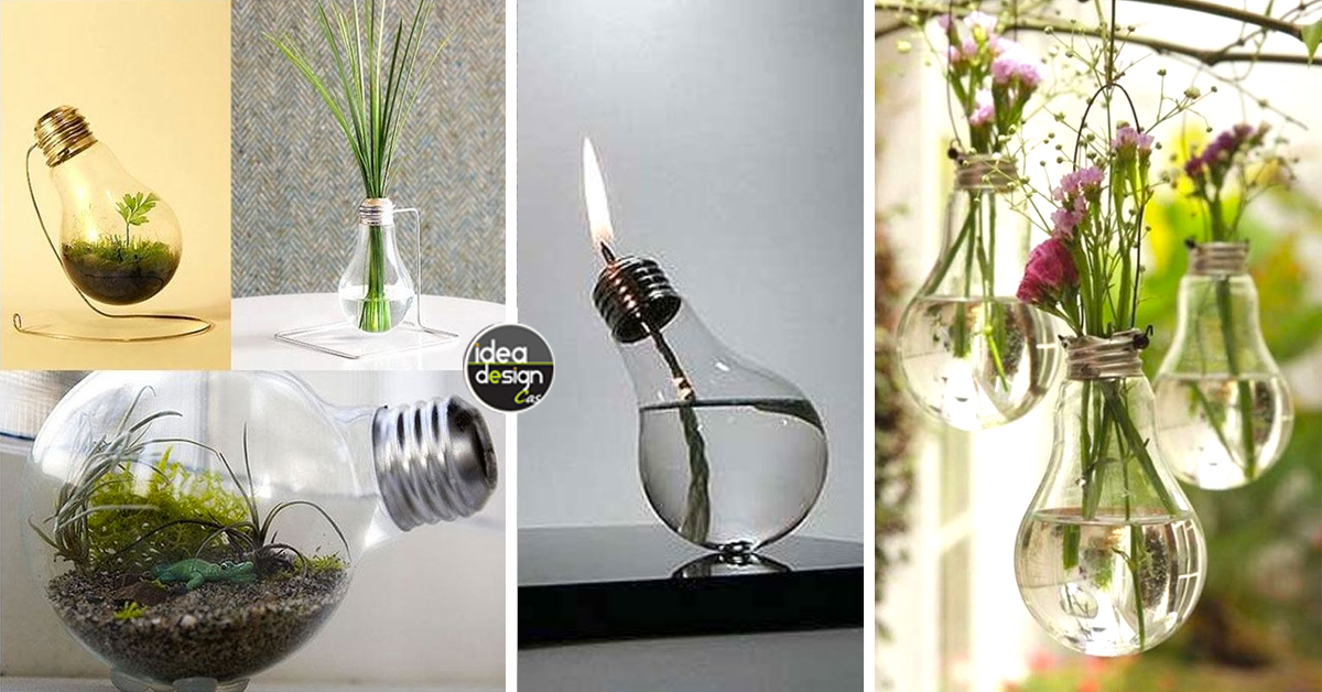 Riciclo lampadine: 10 idee design con le vecchie lampadine! Video tutorial