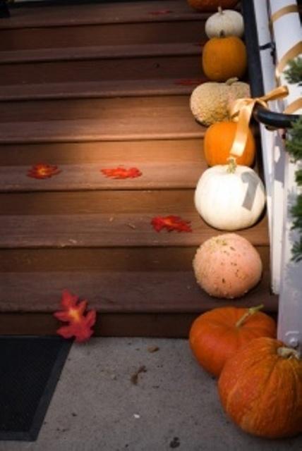 Decorazione scale autunno 17