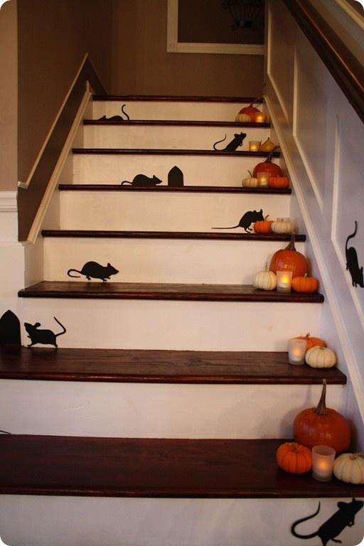 Decorazione scale autunno 27