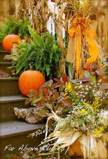 Decorazione scale autunno 7