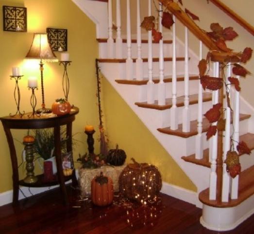 Decorazione scale autunno 9