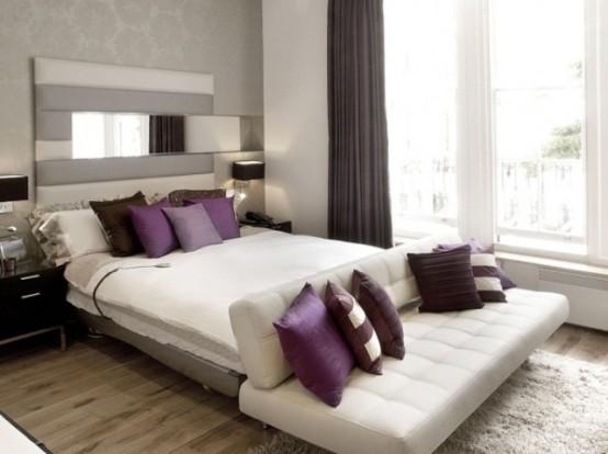 Idee camera da letto viola 10