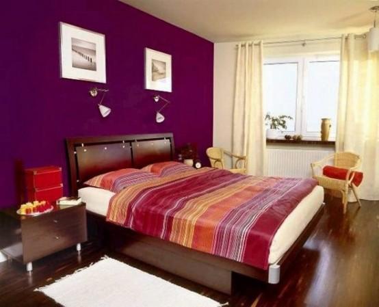 Idee camera da letto viola 11
