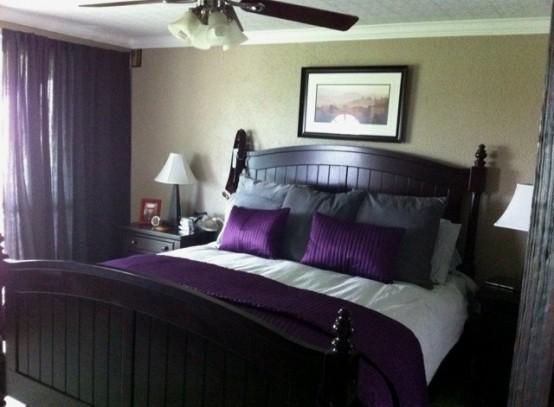 Idee camera da letto viola 13