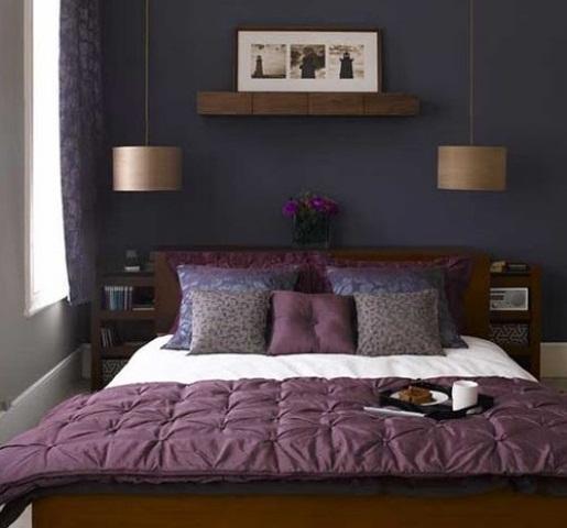 Idee camera da letto viola 16