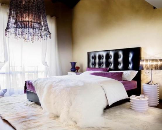 Idee camera da letto viola 18