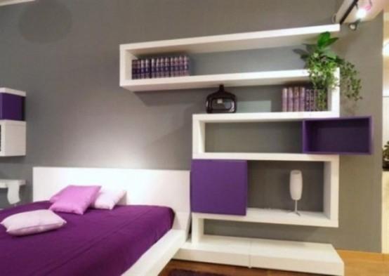 Idee camera da letto viola 19