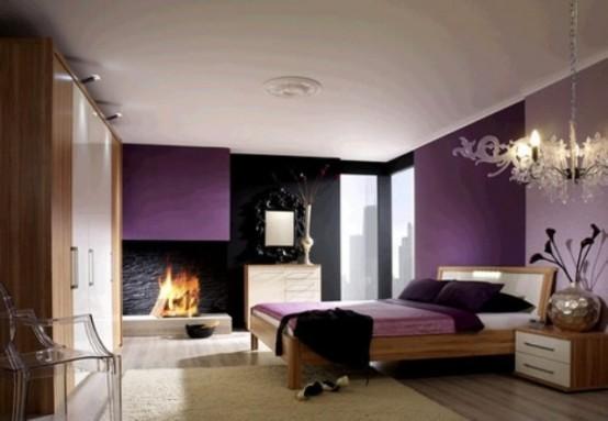 Idee camera da letto viola 20