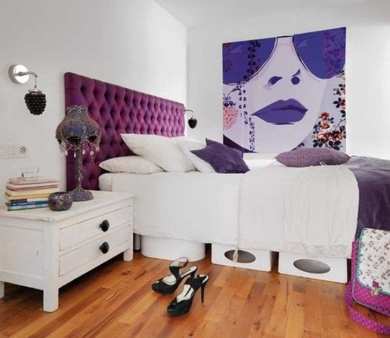 Idee camera da letto viola 21