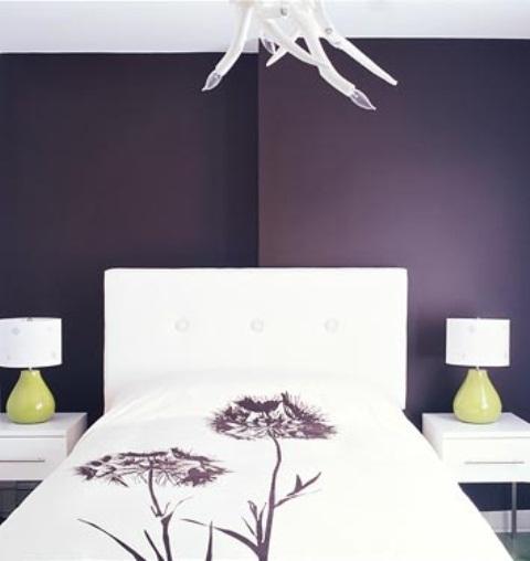 Idee camera da letto viola 23