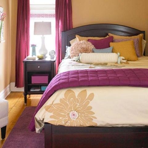 Idee camera da letto viola 24
