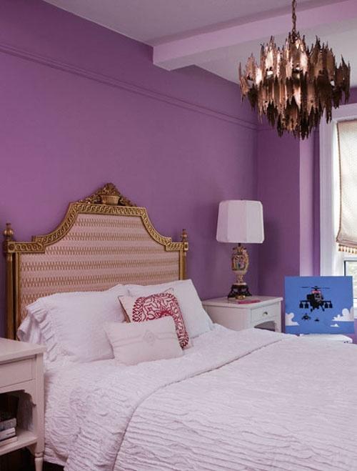 Idee camera da letto viola 25