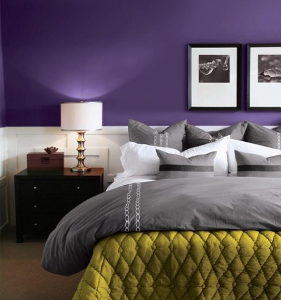 Idee camera da letto viola 26