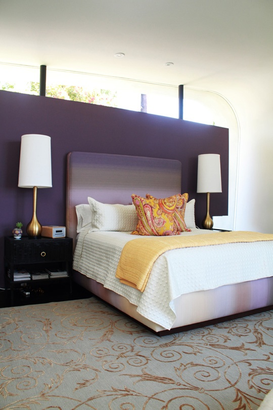 Idee camera da letto viola 27
