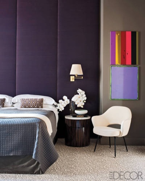 Idee camera da letto viola 28