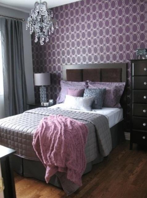 Idee camera da letto viola 29