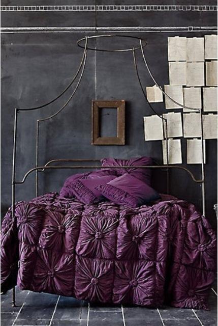 Idee camera da letto viola 30