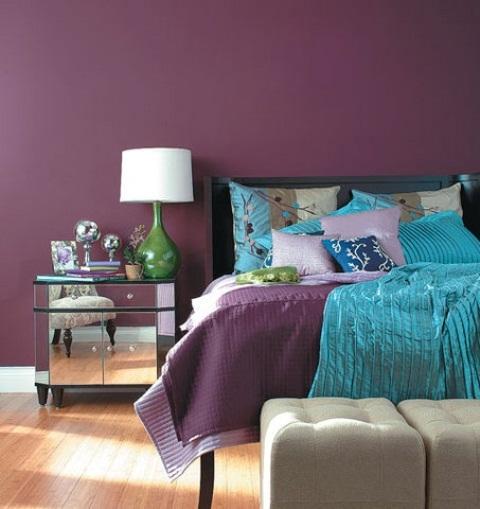 Idee camera da letto viola 31