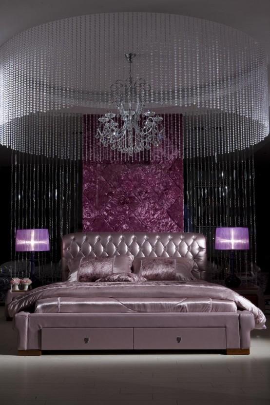 Idee camera da letto viola 32