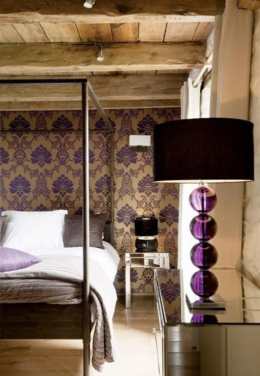 Idee camera da letto viola 34