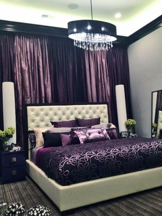 Idee camera da letto viola 35