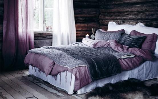 Idee camera da letto viola 37
