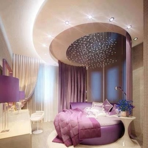 Idee camera da letto viola 38
