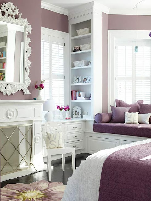 Idee camera da letto viola 39