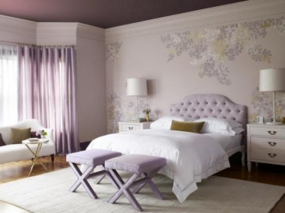arredare la camera da letto con il viola... 51 idee - Arredare Parete Camera Da Letto