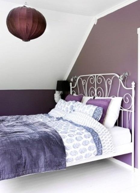 Idee camera da letto viola 40