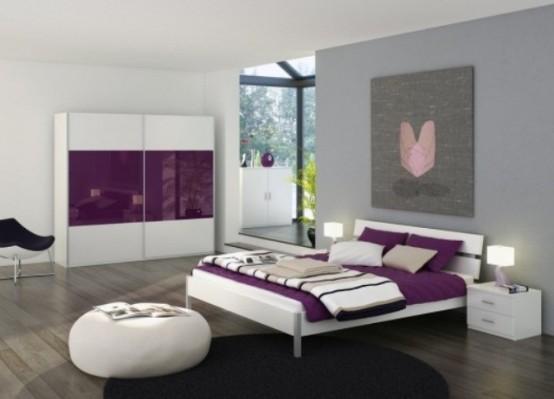 Idee camera da letto viola 43