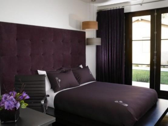 Idee camera da letto viola 44