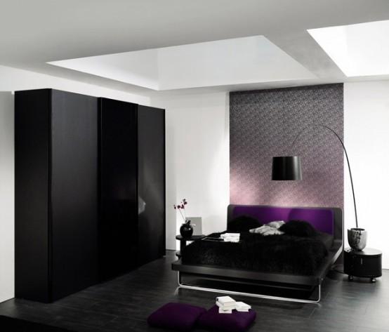 Idee camera da letto viola 45