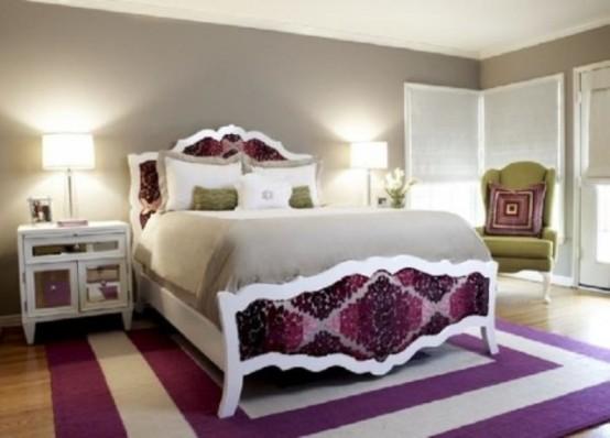 Idee camera da letto viola 46