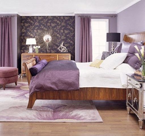 Idee camera da letto viola 47