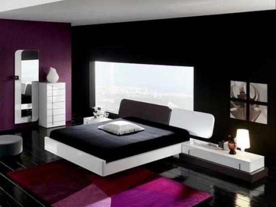 Idee camera da letto viola 48